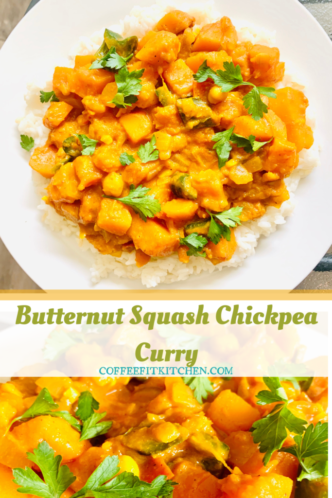 Butternut Squash and Chickpea Curry Pin