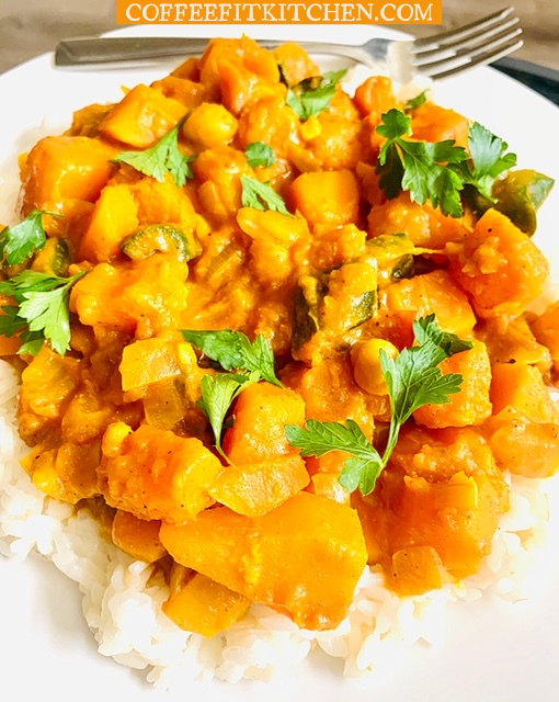 Butternut Sqush and Chickpea Curry