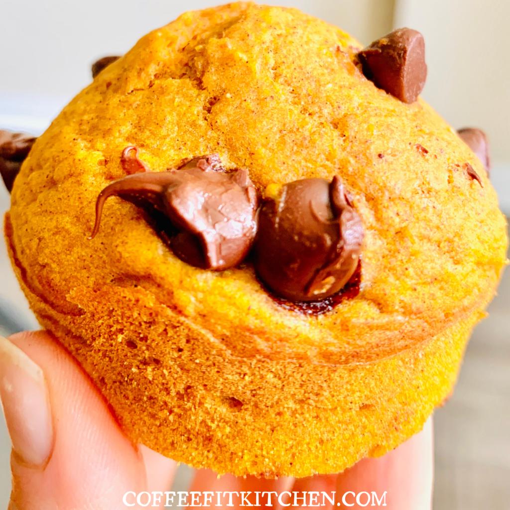 Healthy-Chocolate-Chip-Pumpkin-Muffins