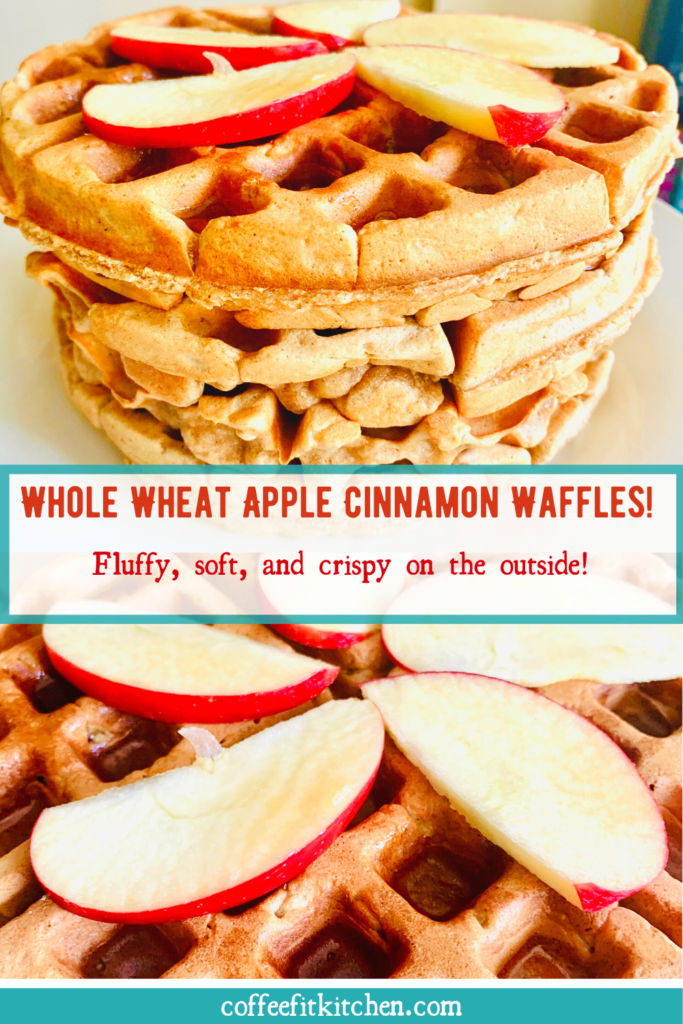 Whole Wheat Apple Cinnamon Waffles