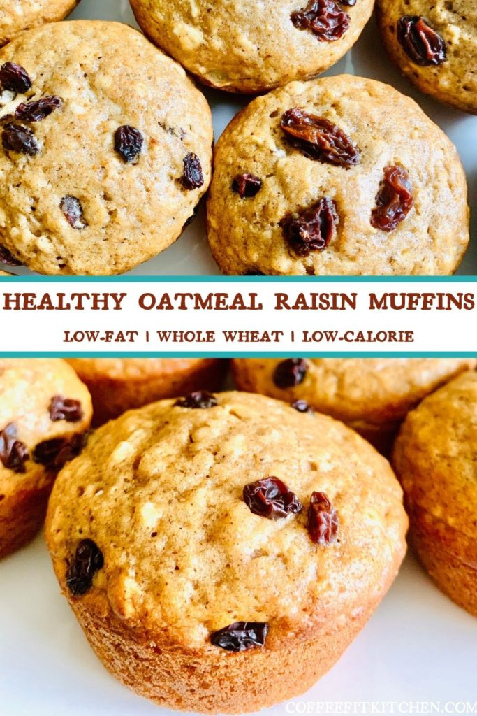 Healthy Oatmeal Raisin Muffins