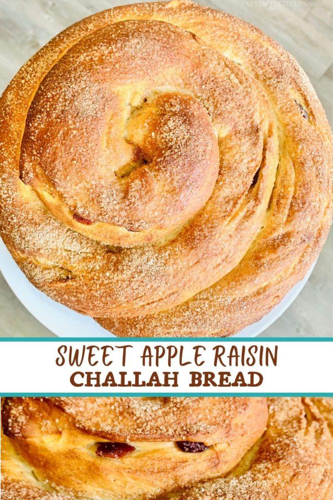 Sweet Apple Raisin Challah Bread