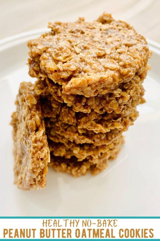 Healthy No-Bake Peanut Butter Oatmeal Cookies