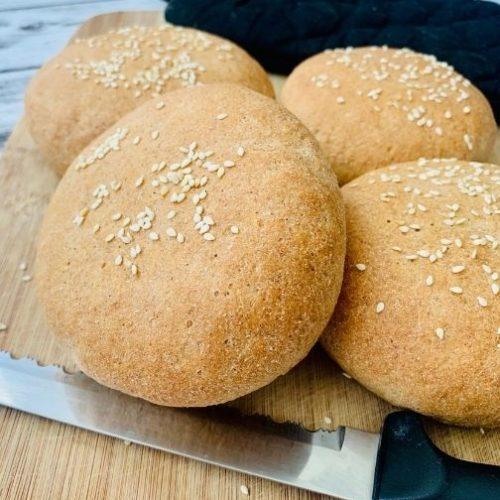 Whole Wheat Hamburger Buns