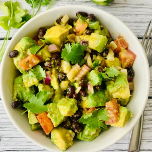 avocado and black beans salad