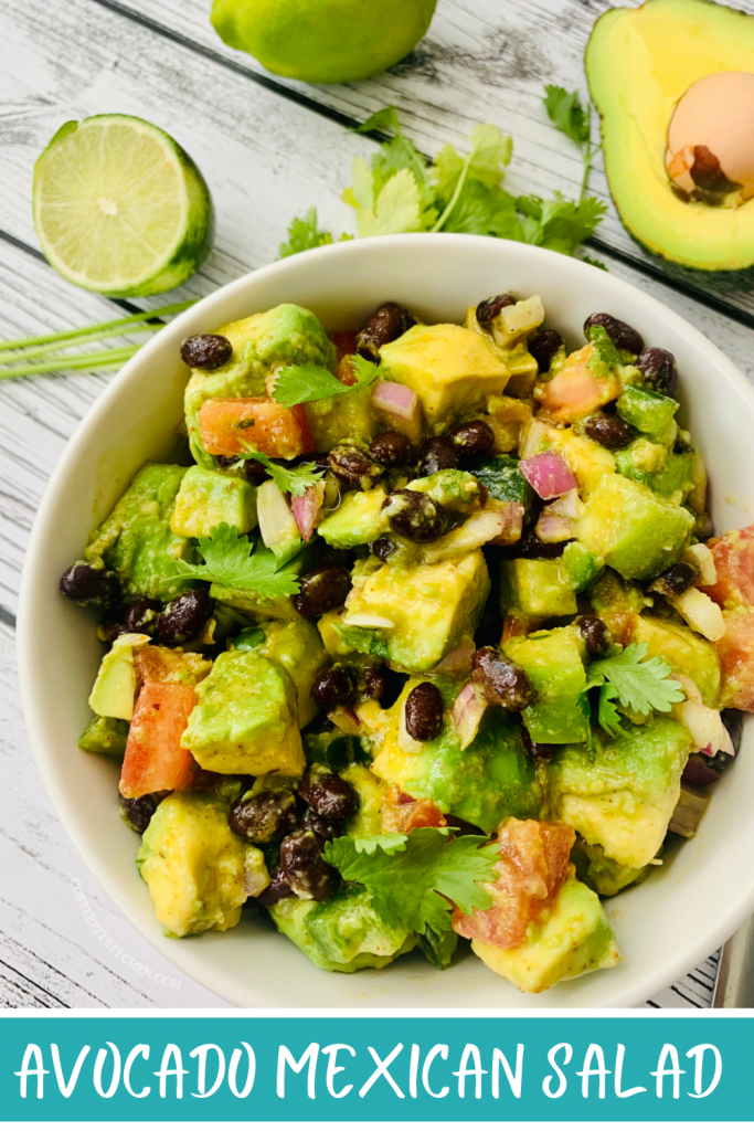 Avocado Mexican Salad with Black Beans