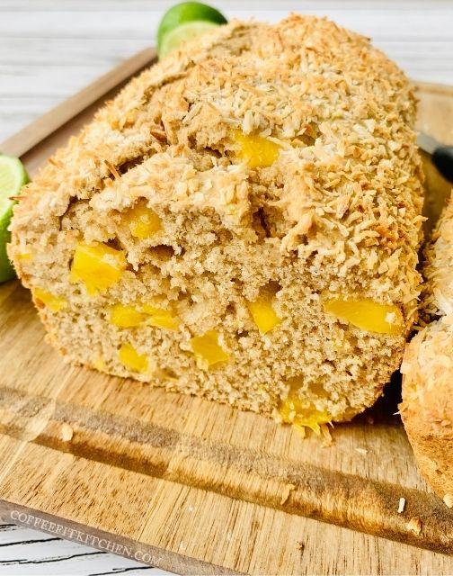 Healthy Mango Coconut Bread
